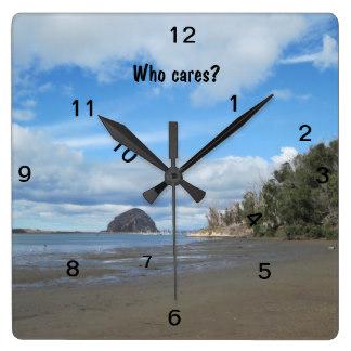 Who Cares Clock of Morro Bay, California, from Zazzle