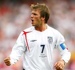 beckham - football player