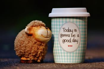 Even a sheeps cup can be running over with positiveness!