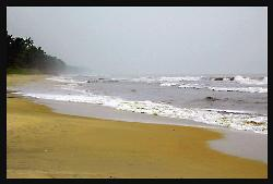 sea shore - On a misty evening at sea.