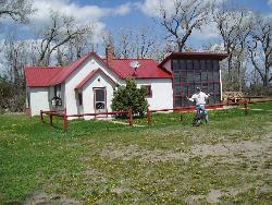 Old Farm House in Nebraska - In Nebraska, you'll find several buildings still standing from many years ago.