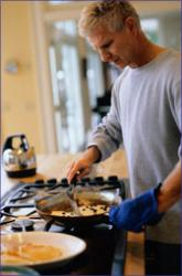Here's a man cooking - Whatever he's cooking, doesn't it look good!
