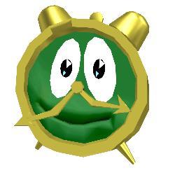 alarm clock  - Goofy green alarm clock