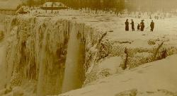 Niagra Falls - THIS PICTURE WAS TAKEN WHEN NIAGARA FALLS WAS COMPLETELY FROZEN IN THE YEAR 1911.  A VERY RARE PHOTO.