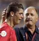 Christiano Ronaldo - Photo of Christiano Ronaldo crying after Portuguese National Team lost a game.  Also Luis Felipe Scolari, Portuguese National Trainer.