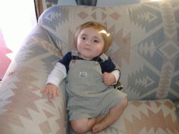 My baby - My son sitting in the rocking chair