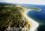 Goose Rock Beach, Maine - aerial view of Goose Rock Beach, on the southern coast of Maine