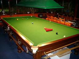 Snooker Table - A full sized snooker table.