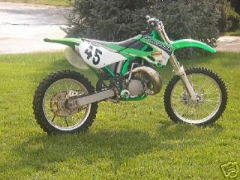 heres are dirt bike. - This is are dirt bike. we also have a race car.