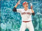 Carlton Fisk - Picture of Red Sox Carlton Fish jumping for joy with his home run in '75 world Series