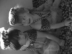 this is a photo of my girls playing dress up
