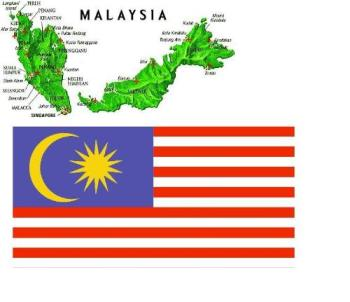 Country - Malaysia Map and Flag