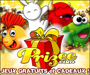 Prizee - Prizee is a very nice French game that offers real prizes.