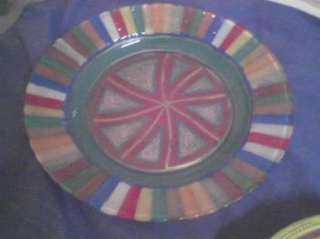 Glass Dish - I designed this plate with permanent paint pens.
