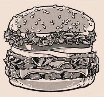 Burger!!! Yum..yum..:) - Its a Chicken Burger!! take a bite..:)