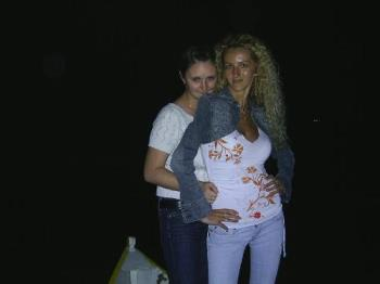 me and a friend - i like this picture because is taken by night and this is my favourite moment in a day