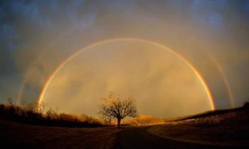 Rainbow - sunrising rainbow