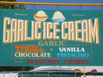 Garlic icecream - Yum?