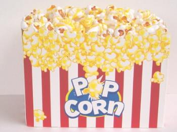 Butter Popcorn - A nice big box of butter popcorn.