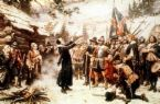 First Thanksgiving - painting of first Thanksgiving day in Plymouth Colony