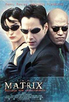 The Matrix - The poster from The Matrix, for which is the best Keanu Reeves movie.