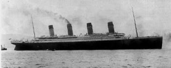 Titanic - The Titanic leaving on its maiden and last voyage on April 10, 1912.