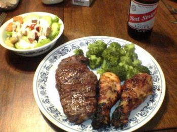 Steak & Chicken - The best of both worlds all in one meal!  Steak & Chicken!