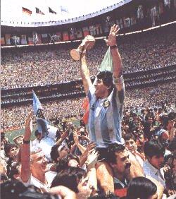 Maradona - Diego Armando Maradona in 1986, After winning the FIFA World Cup