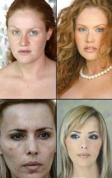 makeup - makeup and without makeup
