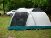 tenting - this is the kind of tent we stayed in. It was okay with the blow up mattress.