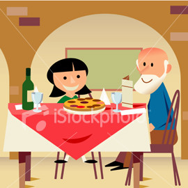to young - Picture of an old guy dating a young younger girl
