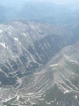 German alps from an airplane - the German alps from an airplane