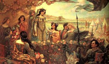Lancelot and Guinevere, by Herbert James Draper (1 - love