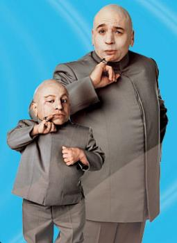 mini-me and dr. evil - mini-me and dr. evil from the movie Austin Powers