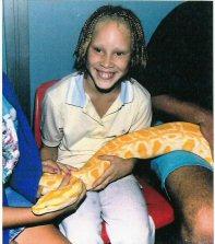 Girl with snake - Girl with snake