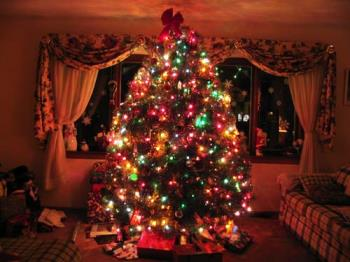 Christmas tree - A decorated christmas tree