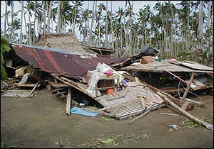 Devastated 'Bicol' - The aftermath of typhoon Reming in the Bicol, Philippines...