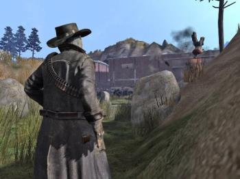 call of juraz - its a adventure game...the our view is as 3rd person shooter.... based on cowboys....