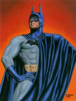 Batman - oil on canvas board