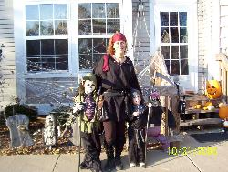 Halloween - This is a photo of me and my boys just before a halloween party.