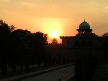 sunset at New Delhi -  Photographed at New Delhi