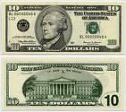 10 dollar bill - 10 dollar bill