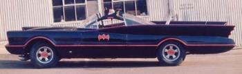 The Original Batmobile - The original Batmobile used in the TV series of the 1960s.