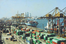 The Colombo Port - The Colombo Port handled its highest ever container volume last month. The 210,588 tons handled by the Colombo Port during October is reported to be the highest container volume yet handled by the Colombo Port in a single month.