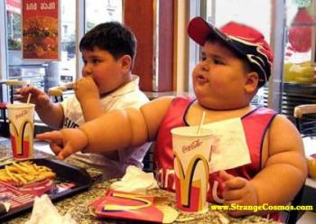 Morbidly Obese child - Morbidly Obese child that eat's McDonalds supersize meals every day.