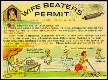 domestic violence - wifebeater certificate