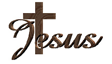Jesus Cross image - Image of the word Jesus and a Cross in gold color