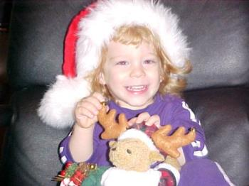My beautiful Santa Claus - My son having a great time been a Santa in 2004!