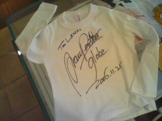 marc panther t-shirt - marc's signed t-shirt souvenir