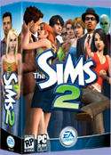 SIMS2 - The Sims 2 is the sequel to the best selling PC game of all-time! In The Sims 2, you can direct your Sims over a lifetime and mix their genes from one generation to the next. You can set your Sims' goals in life; popularity, fortune, family, romance or knowledge. You can fulfill dreams and push the extremes.
